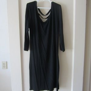 Tobi black strappy back dress